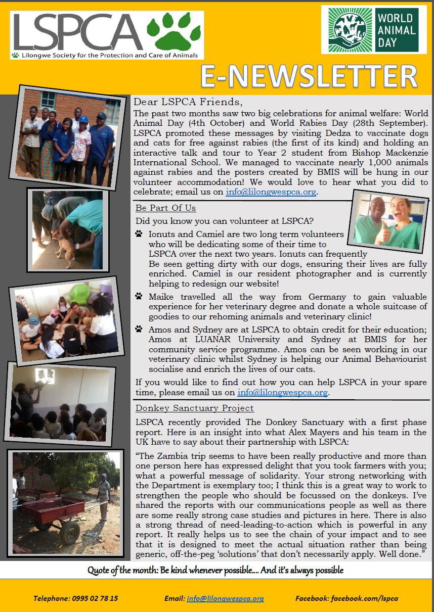 E-Newsletter September and October 2016